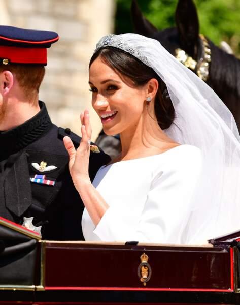 Meghan et Harry lors de leur mariage à Windsor le 19 mai 2018