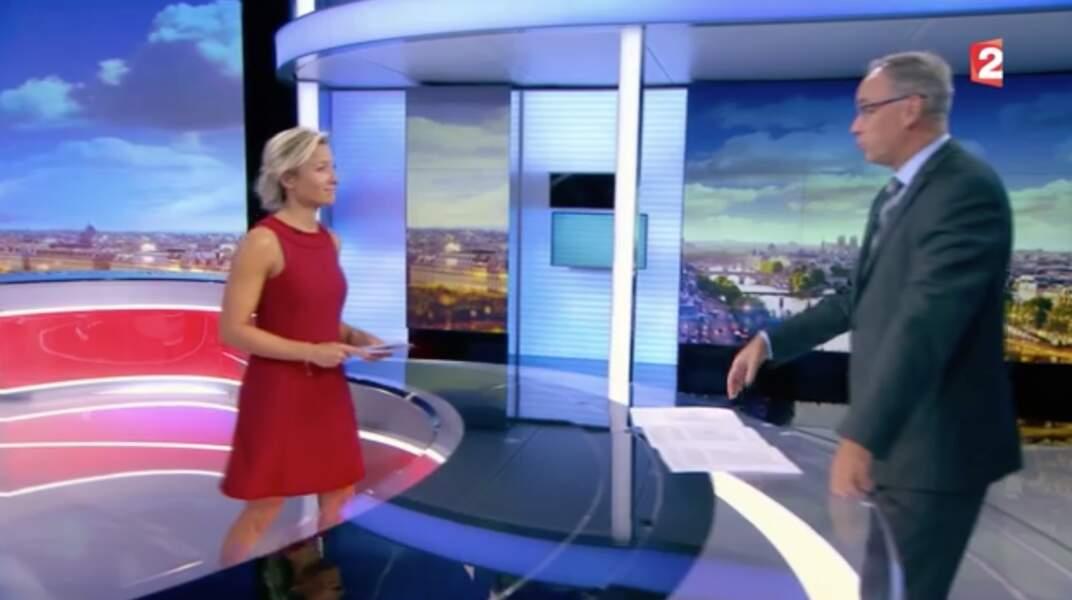 Anne-Sophie Lapix au journal de 20H sur France 2 le lundi 4 septembre