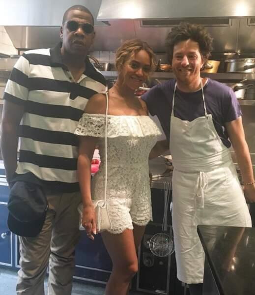Jean Imbert aux côtés de Beyoncé et Jay Z
