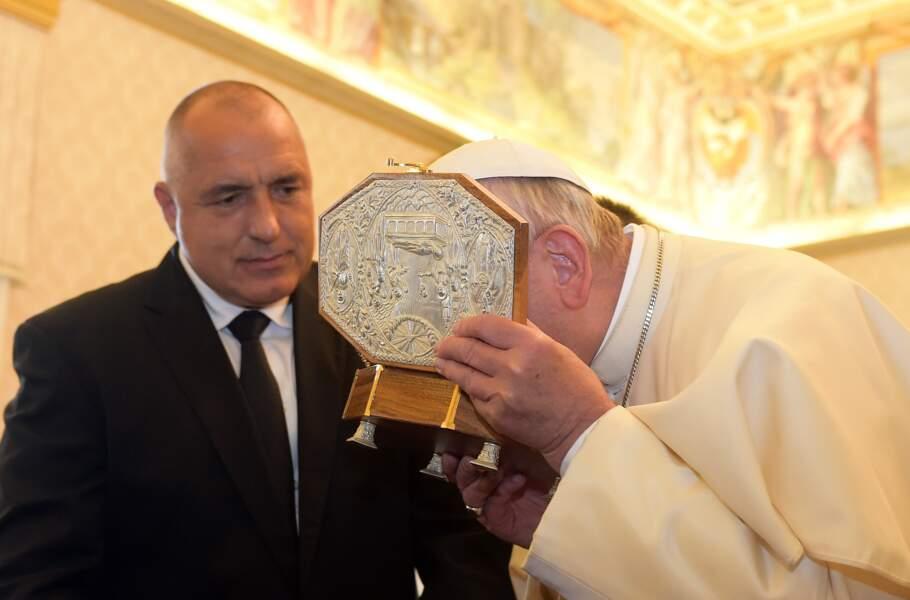 Le pape lors de sa rencontre avec le premier ministre Belge