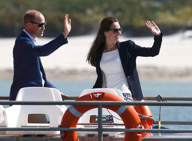 Britain's Prince William and Catherine, Duchess of Cambridge, travel by boat to St Martins -  UK
