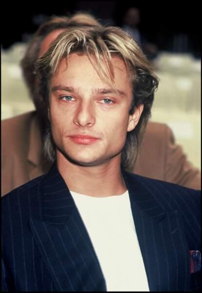 """David, en 1989, porté par le succès de son single """"High"""", en France."""