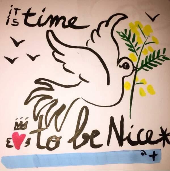 Le créateur Jean-Charles de Castelbajac a de suite réagi en publiant un dessin sur son compte Instagram.