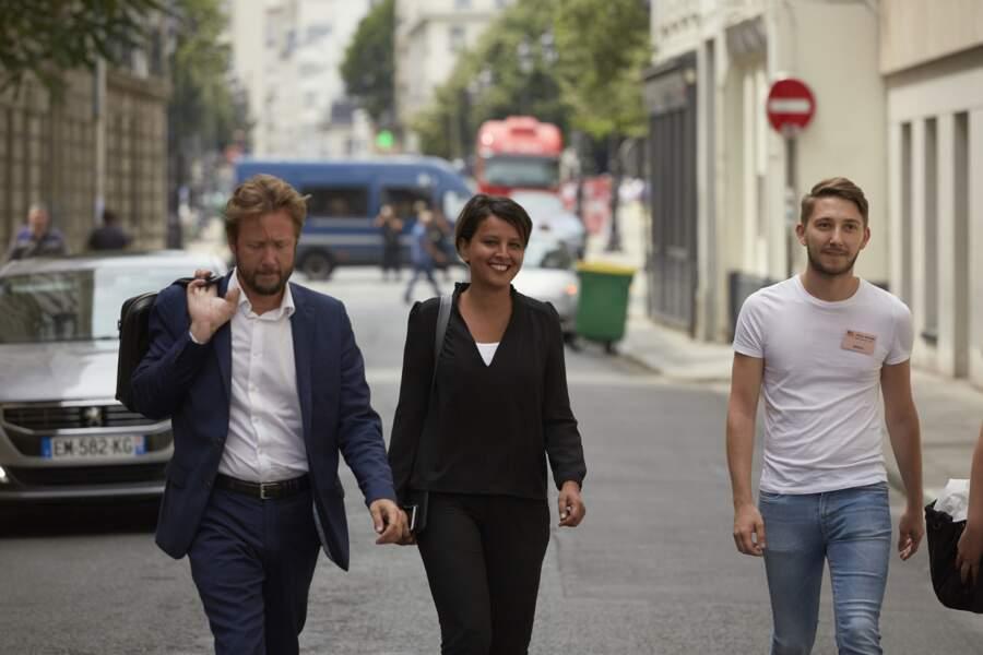 Najat Vallaud-Belkacem et son mari Boris Vallaud tout sourire