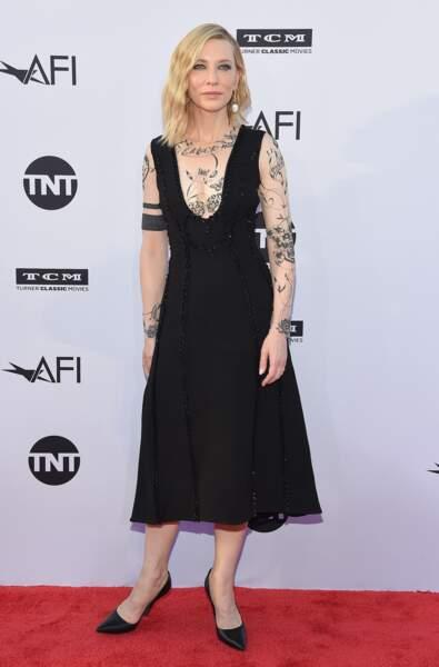 "Cate Blanchett recycle sa robe ""tatouage"" signée Aouadi Paris"