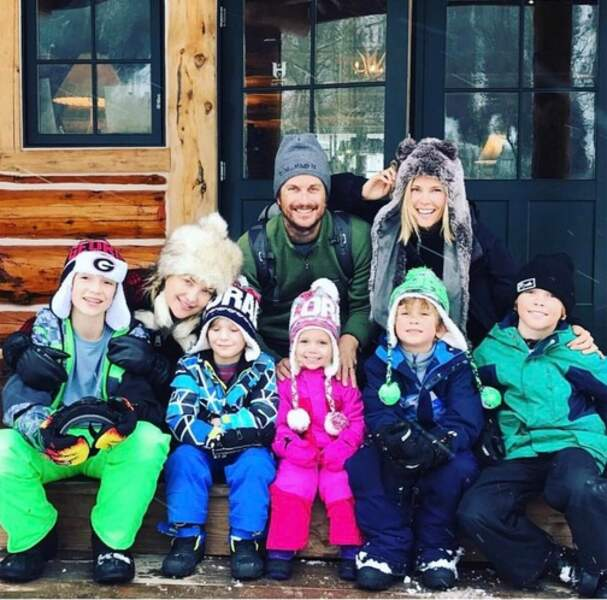 Kate Hudson, son frère Oliver et leurs enfants respectifs