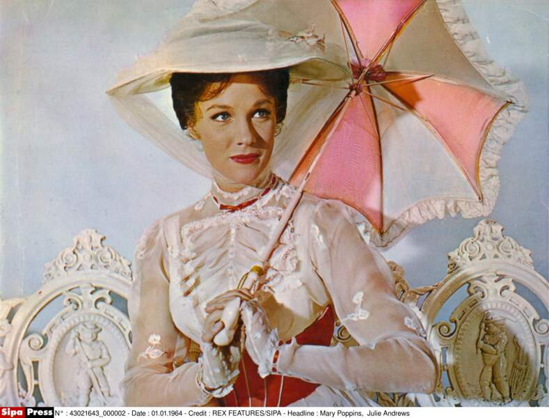 Julie Andrews dans Mary Poppins, en 1964