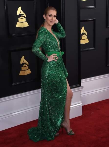 Céline Dion aux Grammy Awards à Los Angeles