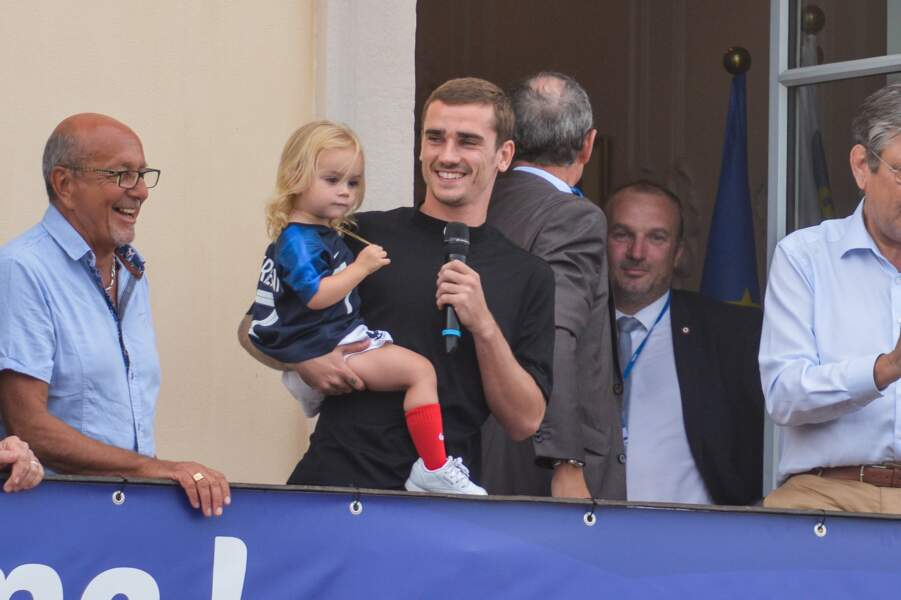Antoine Griezmann en famille pour son retour