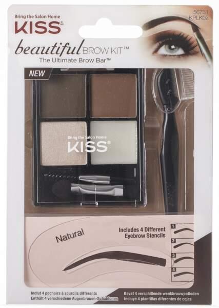 Beautiful Brow Kit, Kiss, 9,95 € chez Carrefour et Casino