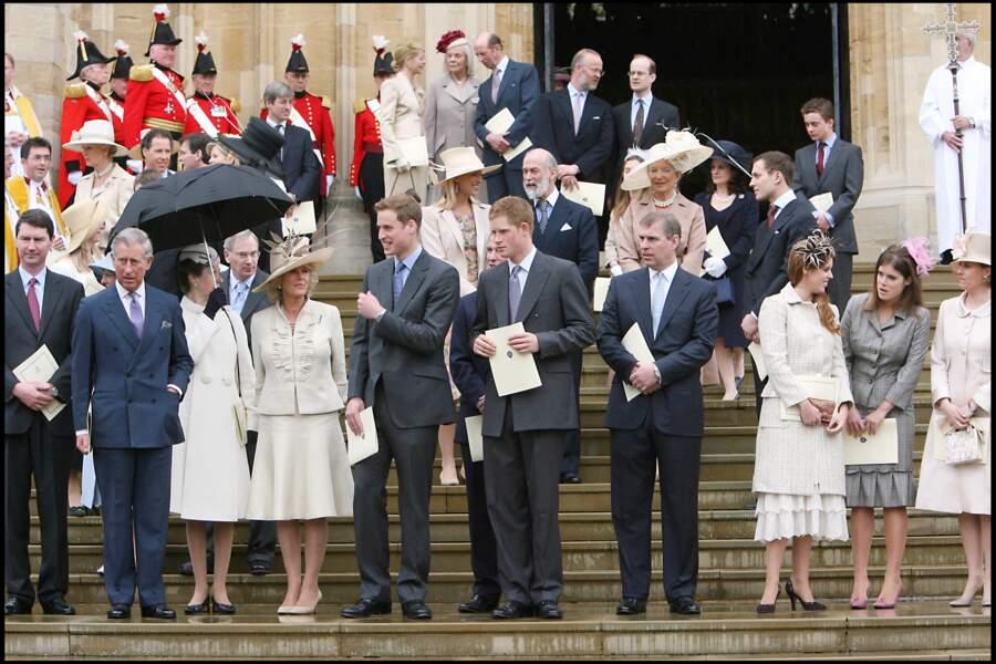 Eugénie d'York et Béatrice d'York, avec leurs cousins, les princes William et Harry, en 2006