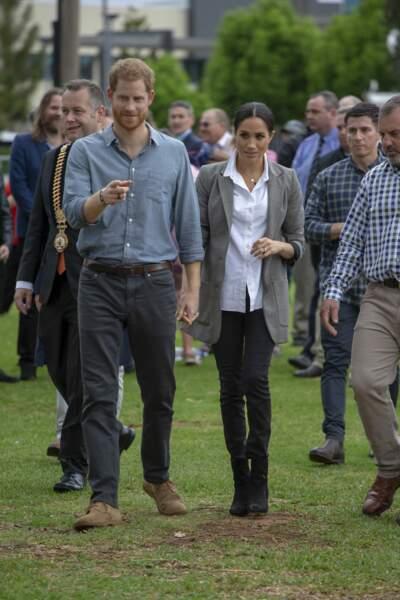 Le prince Harry et Meghan Markle à Dubbo en Australie le 17 octobre 2018