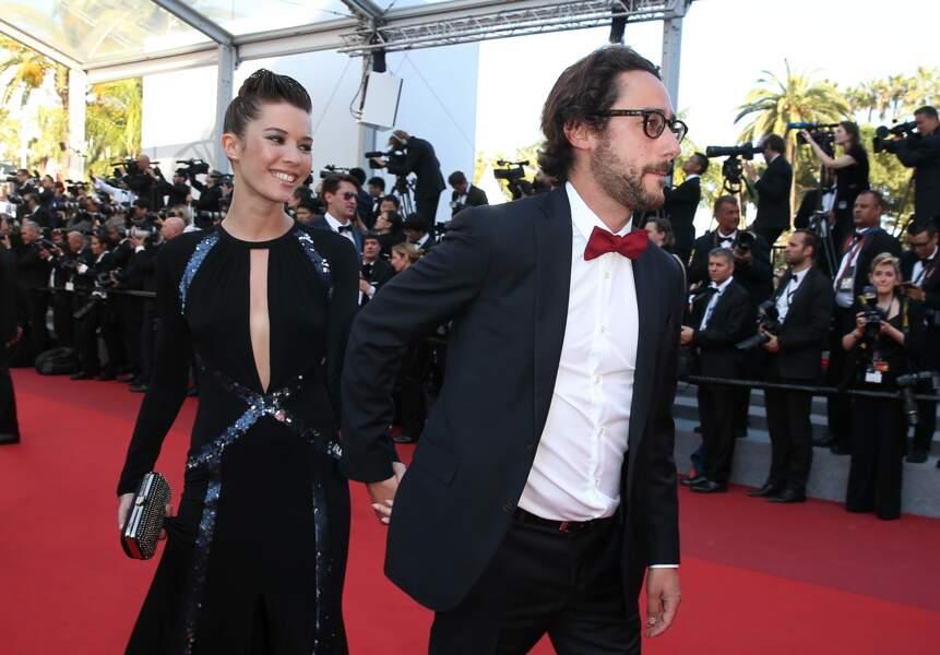 Thomas Hollande et sa compagne Emilie Broussouloux, à Cannes le 28 mai 2017