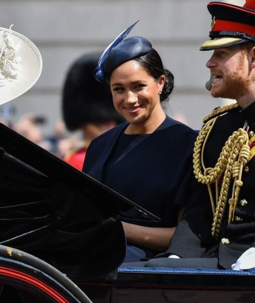 Meghan Markle, la jeune maman radieuse pour la parade Trooping the Colour 2019