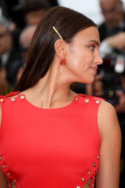 Le top model Irina Shayk à Cannes