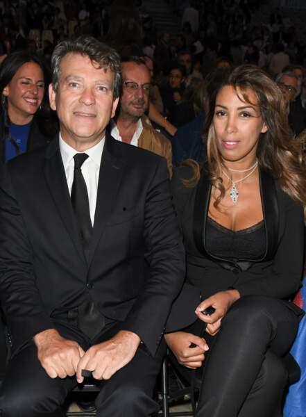 """Arnaud Montebourg et sa compagne Amina participaient à l'opération """"Opéra en plein air"""" qui se déroulait à Paris"""