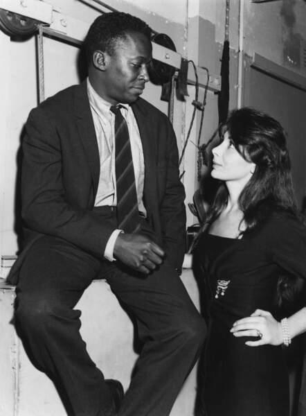 Miles Davis et Juliette Gréco au club St Germain à Paris, en 1958