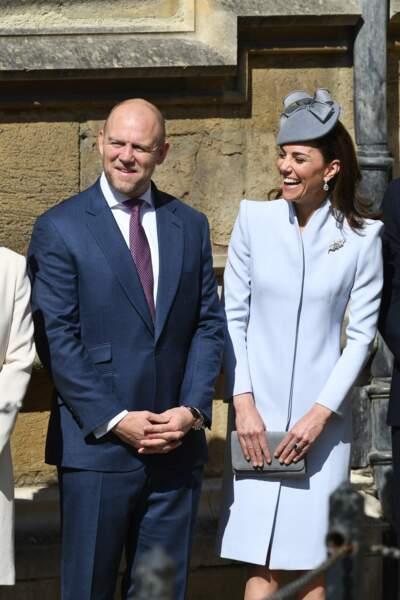 En retard pour le service l'année dernière, William et Kate étaient ponctuels, ce 21 avril 2019