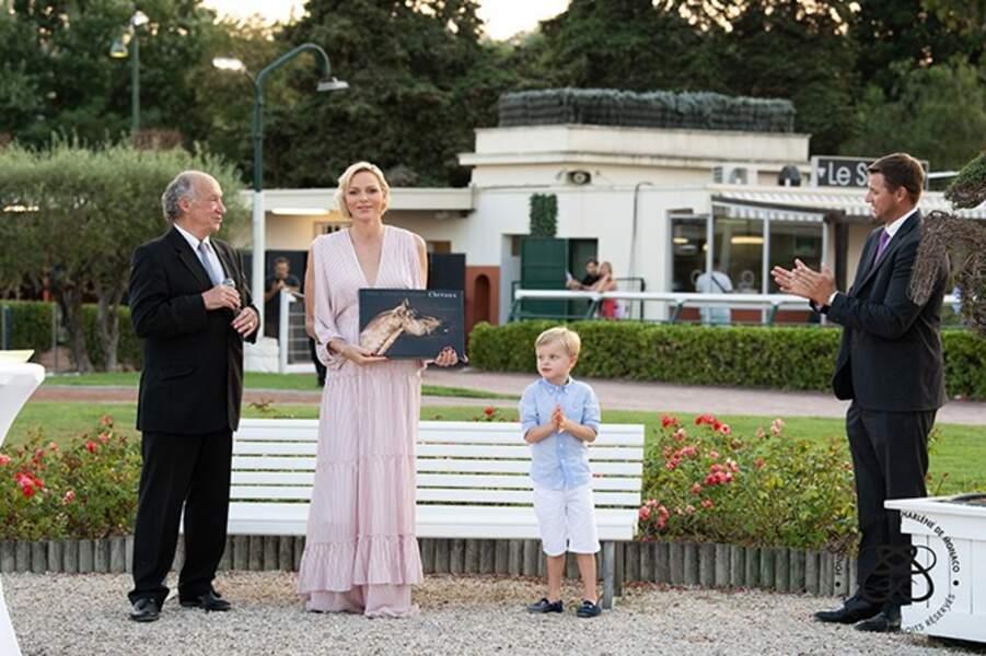 Charlène de Monaco, son fils Jacuqes, son frère Gareth Wittstock (droite).