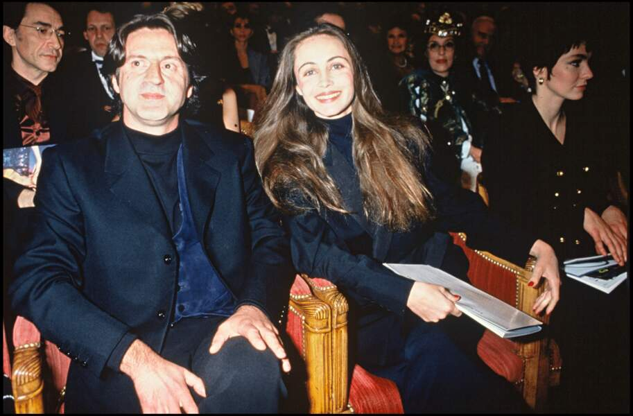 Daniel Auteuil et sa compagne Emmanuelle Béart en 1993