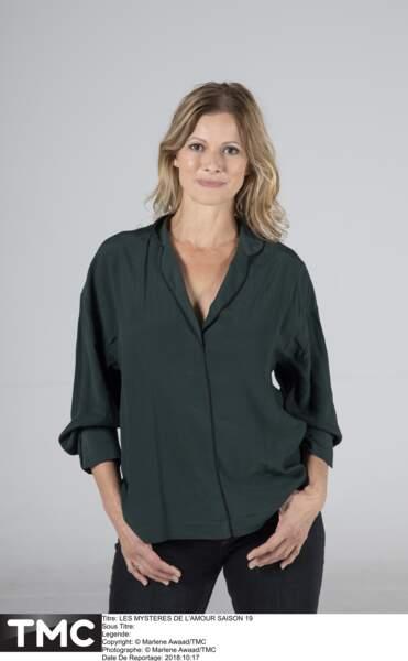 """La comédienne Laly Meignan (51 ans), héroïne de la série """"Les Mystères de l'Amour"""" (TMC)"""