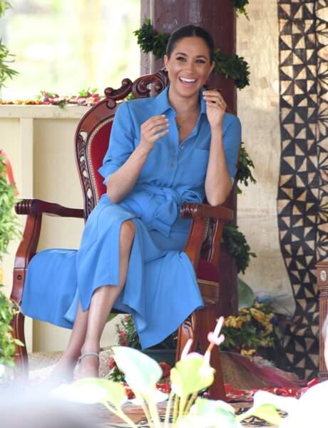 Meghan Markle prise d'un fou rire