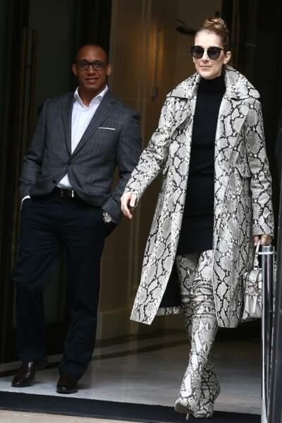 Paris Celine Dion out and about.