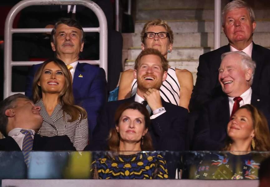 Melania Trump plus épanouie que jamais au côté du prince Harry.