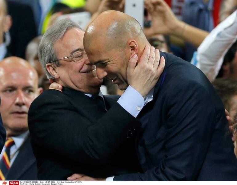 Le président du Real Fiorentino Perez peut dire merci à Zizou - SIPA