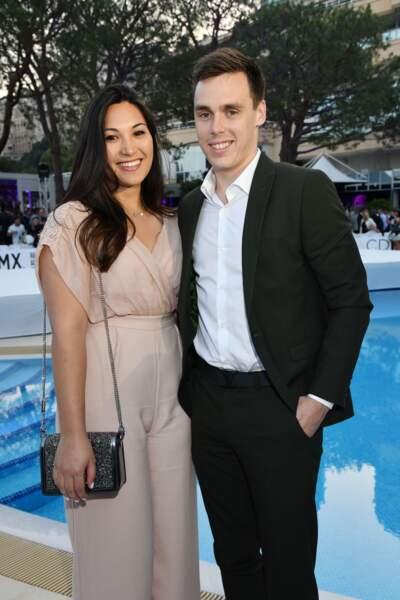 Louis Ducruet et sa fiancée Marie Chevallier très chics à Monte-Carlo, Monaco, le 25 mai 2018