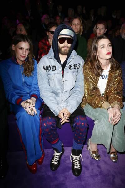 Juliette Maillot, Jared Leto, Charlotte Casiraghi au premier rang du défilé Gucci à Milan