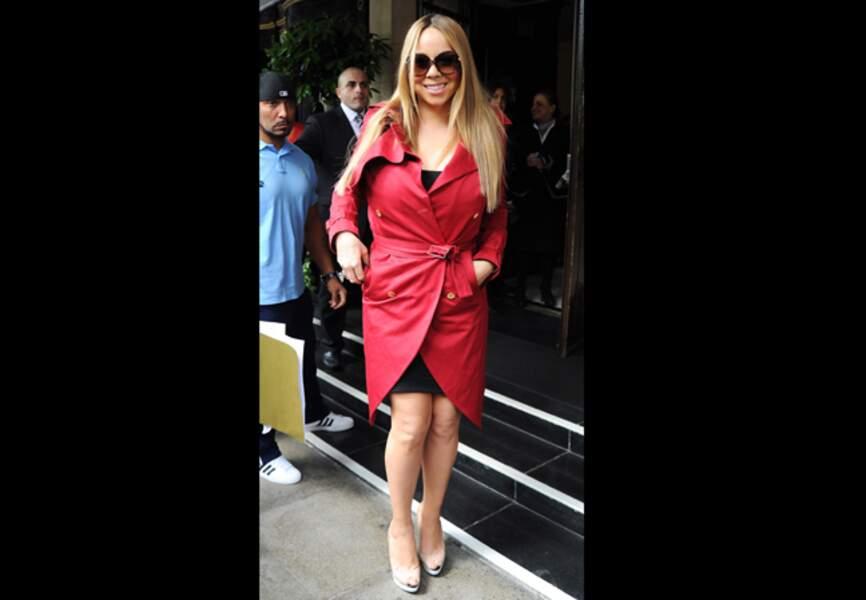 Mariah Carey, rouge incendiaire