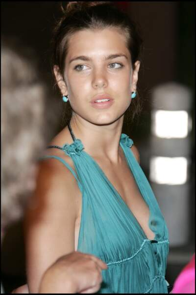 Charlotte Casiraghi resplendissante lors de l'avènement du prince Albert II de Monaco en juillet 2005