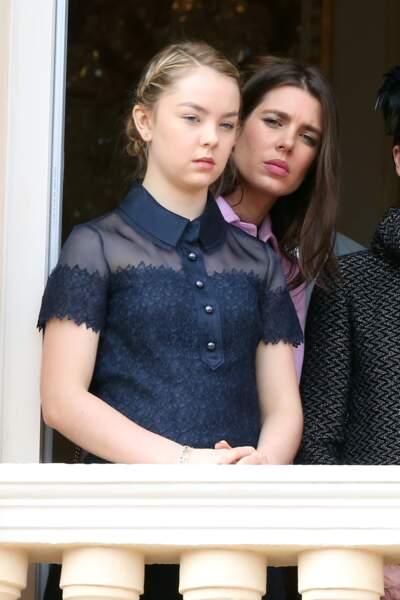 La princesse Alexandra de Hanovre, Charlotte Casiraghi, Pierre Casiraghi 19 novembre 2015