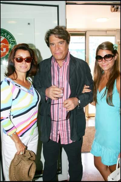 Bernard Tapie, sa femme et leur fille Sophie à Roland Garros en 2006.