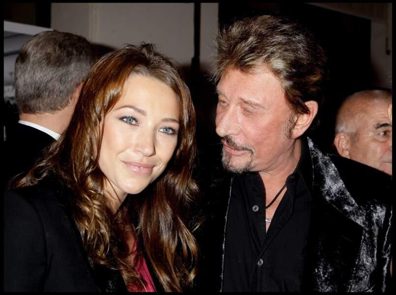 Laura Smet et Johnny Hallyday en 2008 à l'exposition du photographe Patrick Demarchelier à Paris