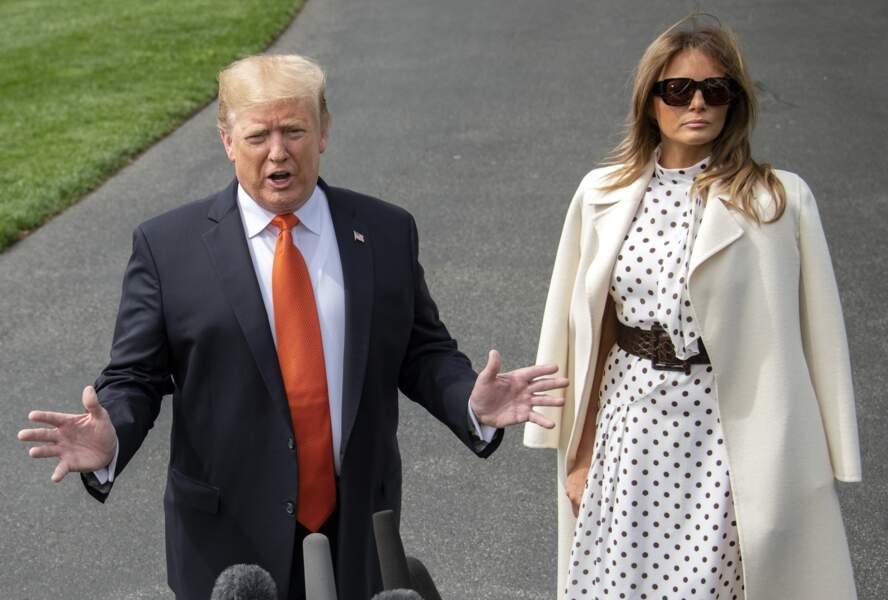 Donald Trump et sa femme Melania se sont rendus à Atlanta mercredi 24 avril