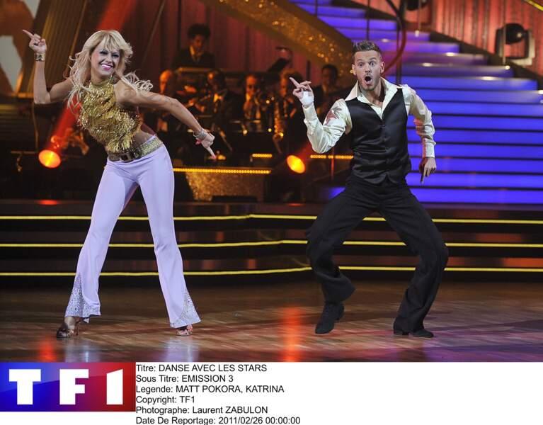 """Associé à Katrina Patchett, M. Pokora remporte la saison 1 de """"Danse avec les Stars"""", en mars 2011"""