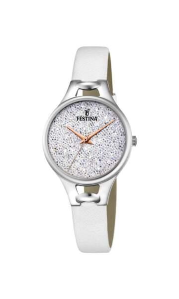 White, montre Festina, 99 € (festina.com)