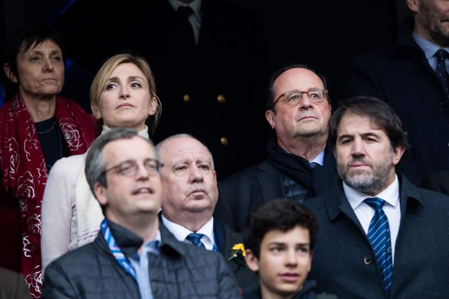 François Hollande et Julie Gayet au Stade de France à Saint-Denis