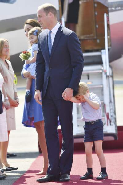 Le prince George, la princesse Charlotte et le prince William