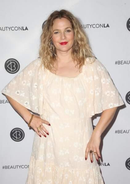 Drew Barrymore à la soirée Beautycon Festival à Los Angeles, le 14 juillet 2018