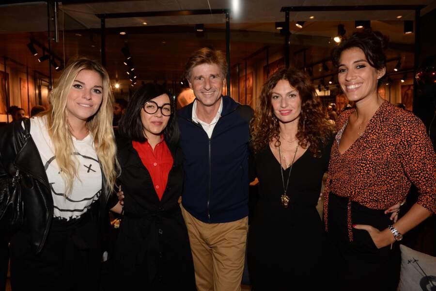Sophie Tapie, Sylvie Hoarau, Alexandre Fauvet (Directeur général Fusalp), Aurélie Saada et Laurie Cholewa