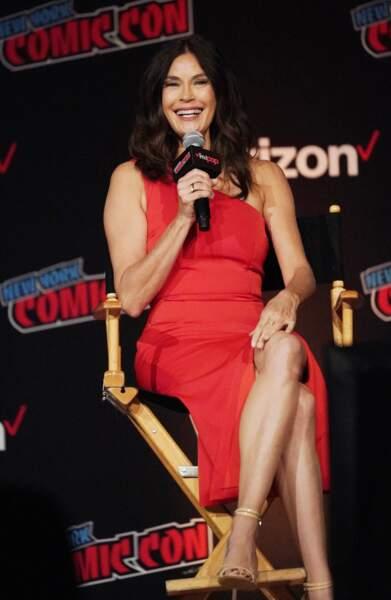 Teri Hatcher (54 ans), lors du Comic Con de New York en 2018