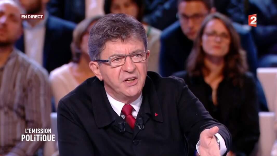 Jean-Luc Mélenchon dans L'Emission politique sur France 2