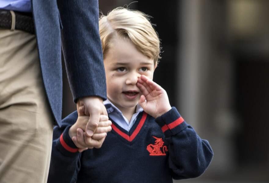 Le prince George, angoissé par son premier jour à l'école le 7 septembre 2017