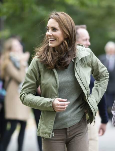 Kate Middleton porte une nouvelle parka suédoise de la marque Fjällräven  à 180 €
