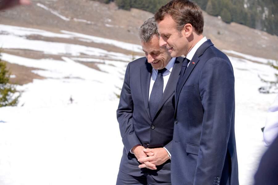 Nicolas Sarkozy et Emmanuel Macron ont eu quelques moments de complicité lors de cette journée