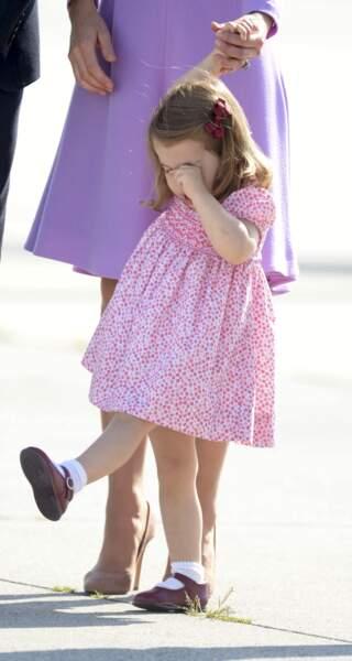 La princesse Charlotte fatiguée