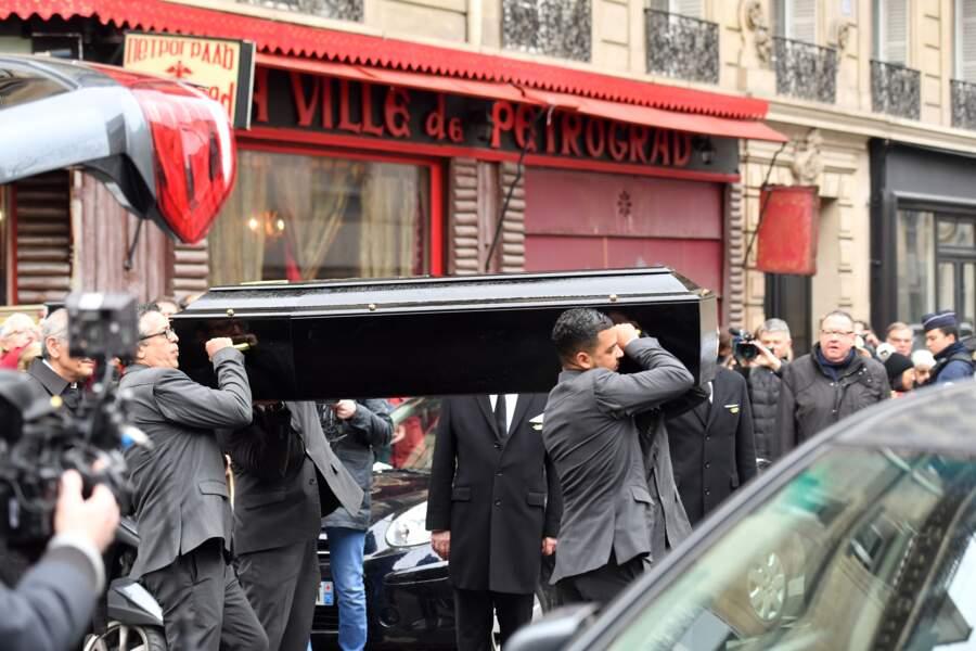 Obsèques de Michel Legrand en la Cathédrale orthodoxe Saint-Alexandre-Nevsky à Paris le 1 Février 2019
